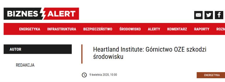 Heartland Institute: Górnictwo OZE szkodzi środowisku